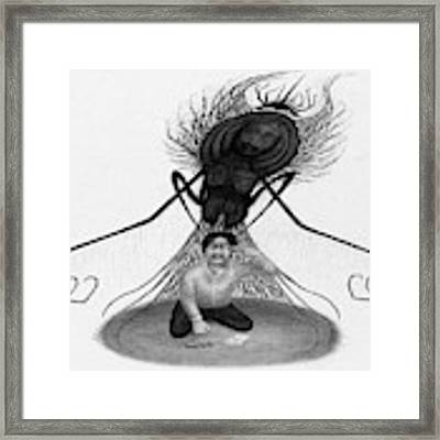 The Demon Left With Him... - Artwork Framed Print by Ryan Nieves