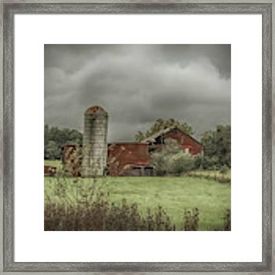 Threatening Skies Framed Print by Judy Hall-Folde