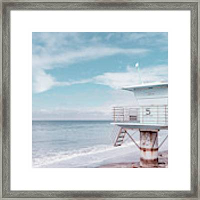 Torrey Pines Beach Lightguard Station Number 5 Framed Print by Wendy Fielding