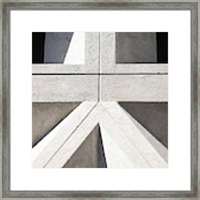 Transamerica Pyramid In San Francisco Abstract Geometry Details R737 Sq2 Framed Print by Wingsdomain Art and Photography