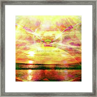 Transform Your Reality Framed Print by Atousa Raissyan