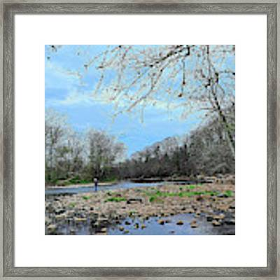 Trout Fishing In America Framed Print by William Jobes