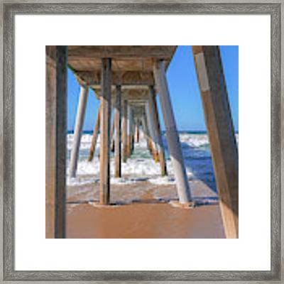Under Hermosa In Blue  Framed Print by Michael Hope