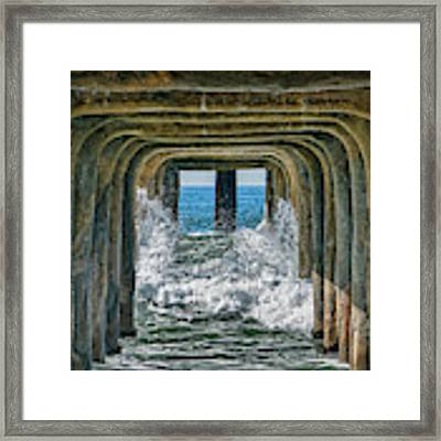 Under The Pier Manhattan Framed Print by Michael Hope