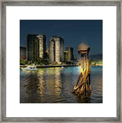 Vancouver Sunset Framed Print by Juan Contreras
