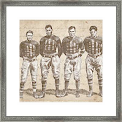 Vintage Football Heroes Framed Print by Clint Hansen