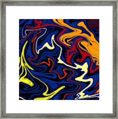 Warped Wet Paint Abstract In Comic Book Colors Framed Print by Shelli Fitzpatrick