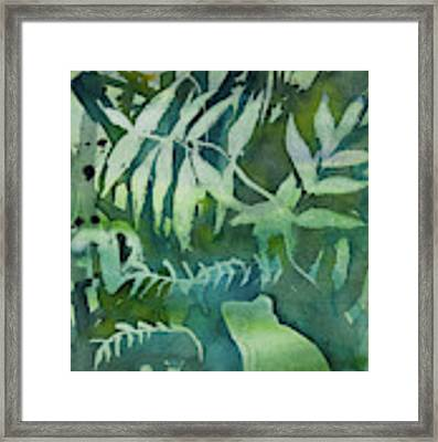 Watercolor - Tree Frog Design Framed Print by Cascade Colors
