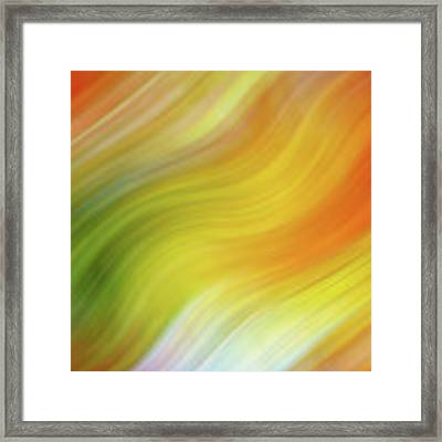 Wavy Colorful Abstract #4 - Yellow Green Orange Framed Print by Patti Deters