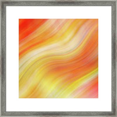 Wavy Colorful Abstract #5 - Yellow Orange Framed Print by Patti Deters