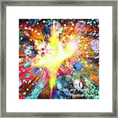We Are All Energy Framed Print by Atousa Raissyan