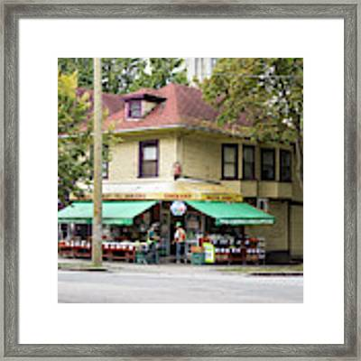 West End Grocery Store Framed Print by Juan Contreras