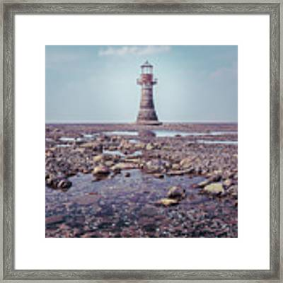 Whiteford Point Lighthouse Framed Print by Elliott Coleman