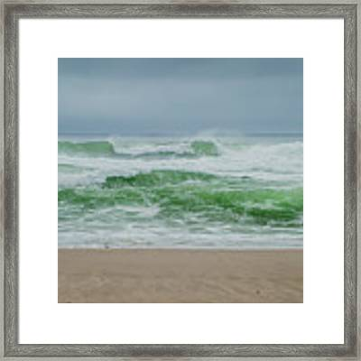 Wild Waves Framed Print by Judy Hall-Folde
