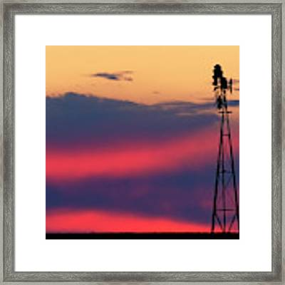 Windmill At Sunset 07 Framed Print by Rob Graham