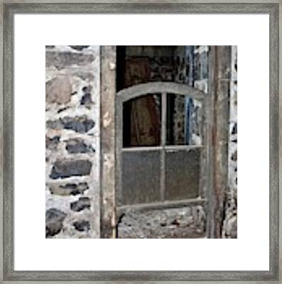 Window Below Framed Print by Ann E Robson
