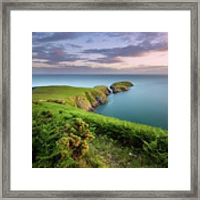 Ynys Lochtyn Summer Sunrise Framed Print by Elliott Coleman