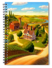 Rural Scene Spiral Notebooks
