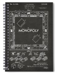 Monopoly Board Game Spiral Notebooks