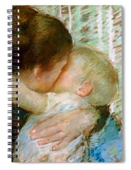Mother Mary Paintings Spiral Notebooks