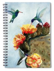 Cacti Paintings Spiral Notebooks