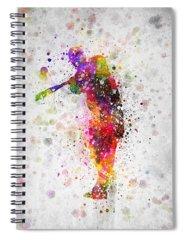 Softball Spiral Notebooks