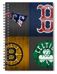 Celtics Mixed Media Spiral Notebooks