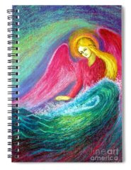 Angel Of Peace Spiral Notebooks
