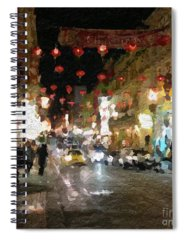 China Town Paintings Spiral Notebooks