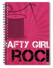 Pink Mixed Media Spiral Notebooks