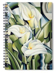 Lilies Paintings Spiral Notebooks