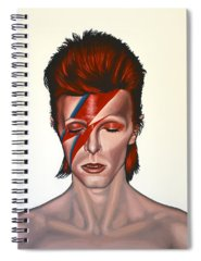 Glam Rock Paintings Spiral Notebooks