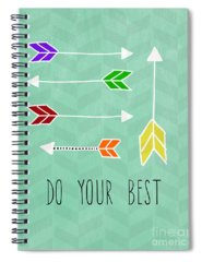 Chevron Mixed Media Spiral Notebooks