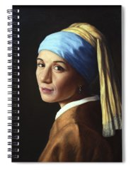 Pearl Earring Spiral Notebooks