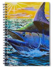 Angler Paintings Spiral Notebooks