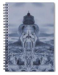 Frozen Tundra Digital Art Spiral Notebooks