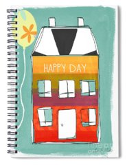Happy Mixed Media Spiral Notebooks