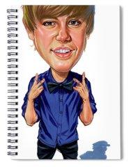 Justin Bieber Spiral Notebooks