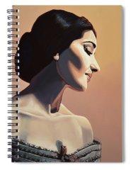 Opera Singer Paintings Spiral Notebooks