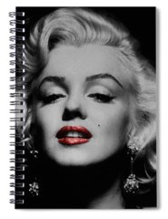 Red Lips Photographs Spiral Notebooks
