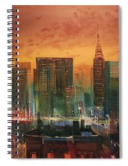 City Scene Spiral Notebooks