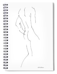 Male Drawings Spiral Notebooks
