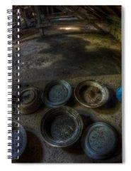 Dirty Dishes Digital Art Spiral Notebooks