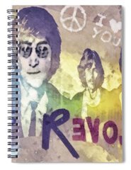 Rock N Roll George Harrison Spiral Notebooks