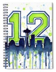 Football Art Spiral Notebooks