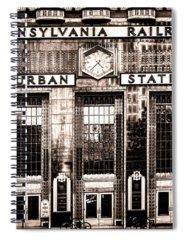 Railroad Station Photographs Spiral Notebooks