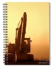 Excavator Photographs Spiral Notebooks