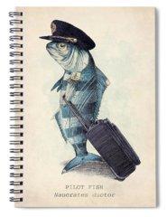 Fish Spiral Notebooks