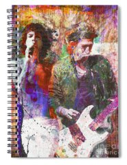 Rock N Roll The Rolling Stones Spiral Notebooks