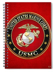 Military Insignia Digital Art Spiral Notebooks